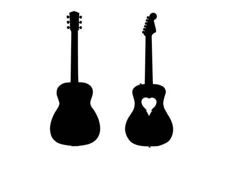 Guitar silhouette 4