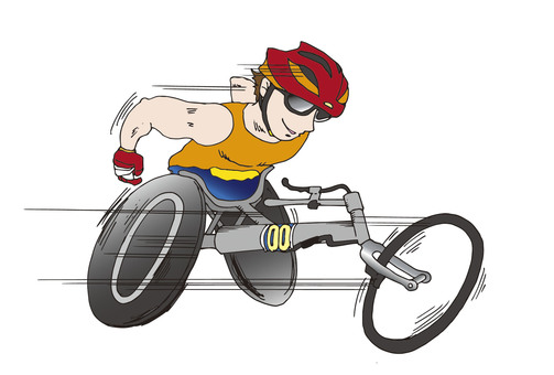 Wheelchair on track