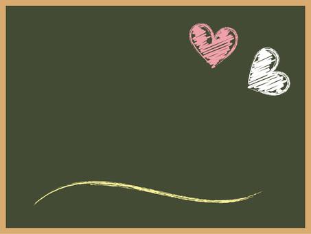칠판 - 하트와 곡선 화이트 · 핑크 · 노랑