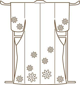 Kimono / line drawing illustration
