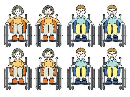 A wheelchair person