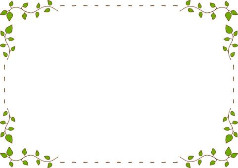 Leaf stitch frame