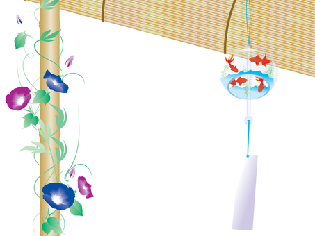 Wind chimes and morning glories 2