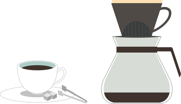 Coffee cup and dripper