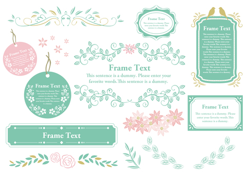 Set Material 031 Girly Frame