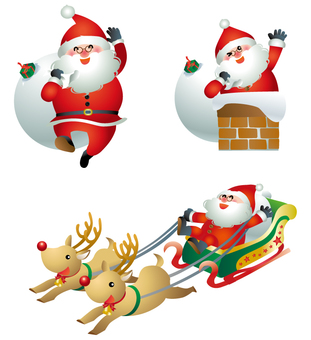 Santa Claus 3 pose