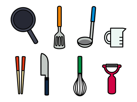 Cookware icon set