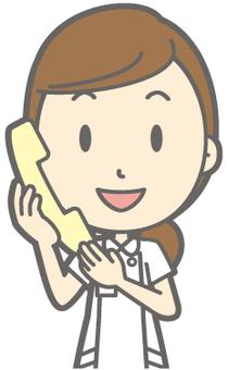 Female nurse - Telephone - Bust