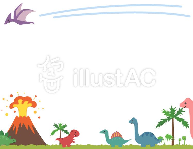 かわいい恐竜のフレームイラスト No 1173835無料イラストなら