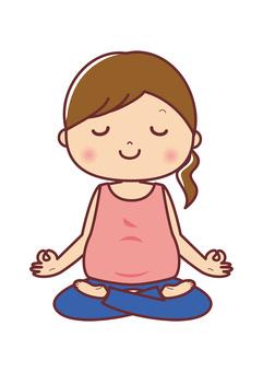 Maternity yoga meditation pose