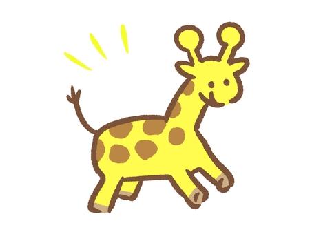A giant horn giraffe