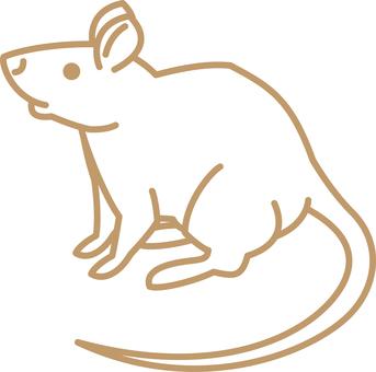 Simple line drawing animal rat 2020