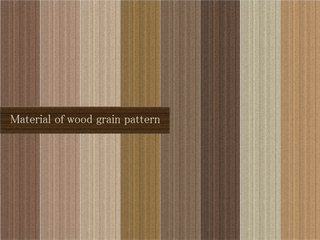 Wood grain pattern material set A