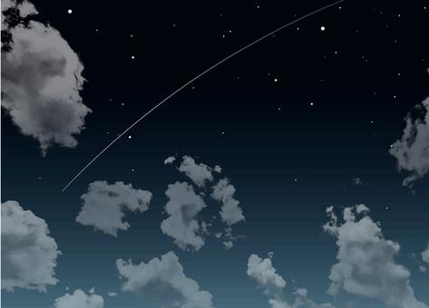 The stars shine and the night sky