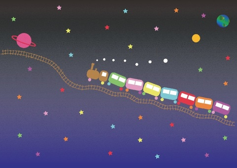 A fairy tale galaxy train