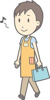 Nursery teacher - walking - whole body