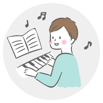 피아노를 연주하는 남자