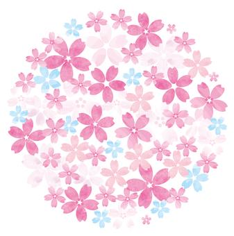 봄 꽃 단순