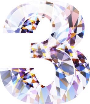 ai 다이아몬드 숫자 3