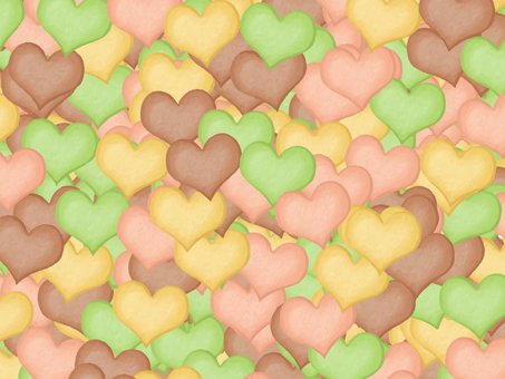 Heart cookie background