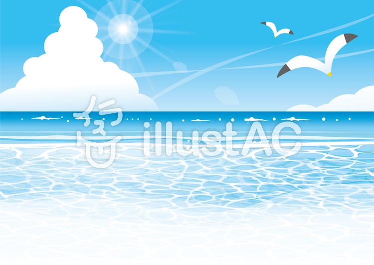 夏の海の風景イラスト No 425904無料イラストならイラストac
