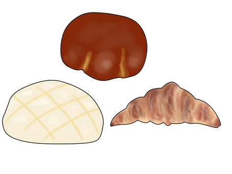 Three kinds of bread
