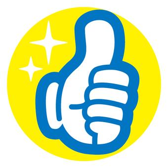 Hand finger mark pop thumb glove