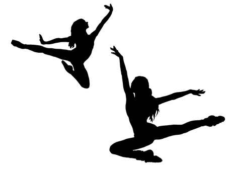 Female dancer silhouette