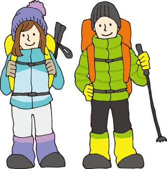Mountain climbing (winter)