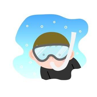 Boys · Snorkeling