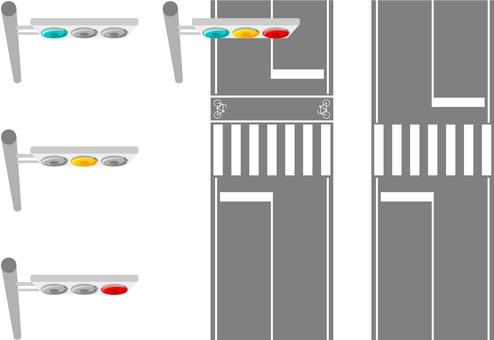 Crosswalk / Bicycle crossing band / Signal machine