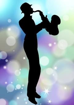 Jazz silhouette