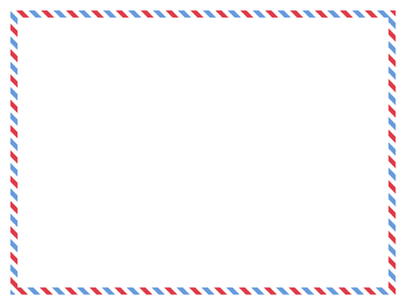 Message card air mail style