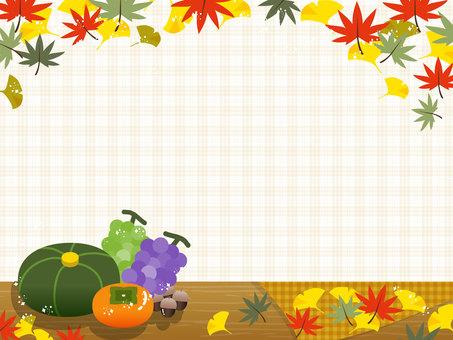 Autumn frame Fallen leaves / autumn taste