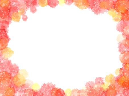 Autumn-like watercolor frame