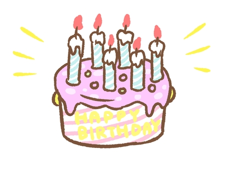 외국 풍의 화려한 생일 케이크