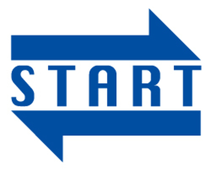Start arrow _ Blue