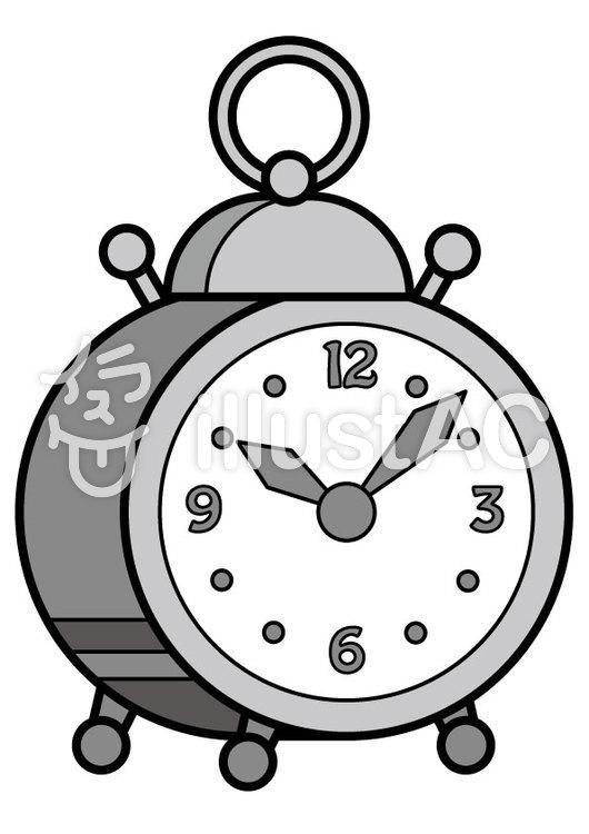 目覚まし時計2cのイラスト