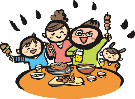 Dining out with family