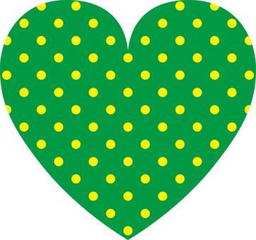 Heart _ polka dots green