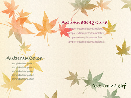 Autumn color background set ver 03
