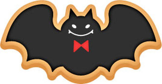 Halloween's batting cookie