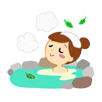 Summer hot spring