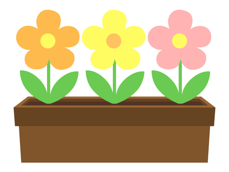Planter's flowers (pastel 3 colors)