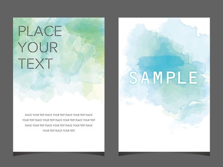 Watercolor background DM flyer transparency