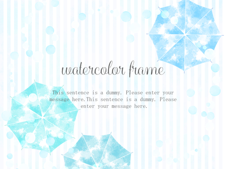 Umbrella watercolor frame