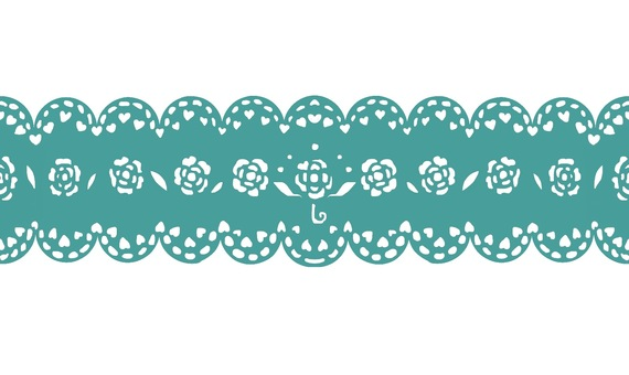 Lace material pattern 2 Pastel green