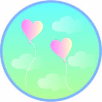 Weather circular window balloon