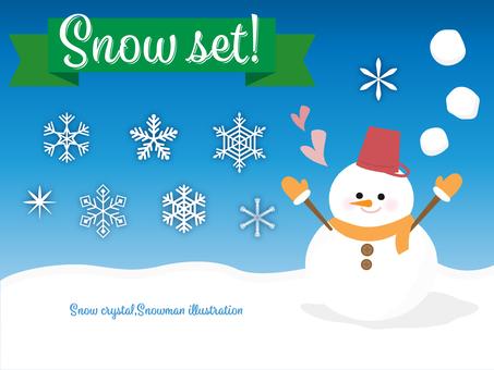 Snow illustration set