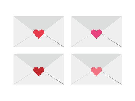 Love letter set (pink · red)